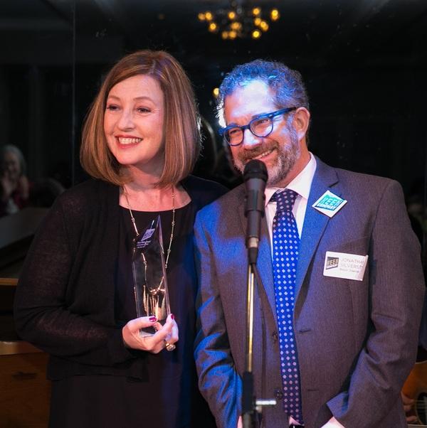 Victoria Leacock Hoffman with Jonathan Silverstein  Photo