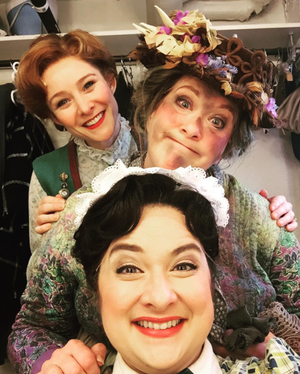 Mary Poppins (Paper Mill Playhouse): @missjillysue Our first #sip @papermillplayhouse with Dierdre Friel, Liz McCartney and Jill Paice! @officialbroadwayworld #marypoppins