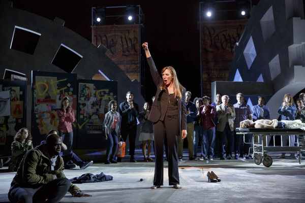 Elizabeth Marvel(center) and the company. Photo Credit:Joan Marcus