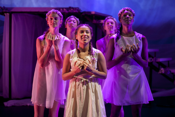 Rocky Vega (center) with Brooke Averi, Jenna Ho, Cindy Reid, and Camri Hewie. Photo by Marina Peidad