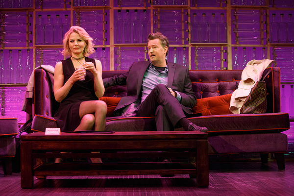 Jennifer Morrison and Matthew Perry in MCC Theater's THE END OF LONGING (photo by Joan Marcus)