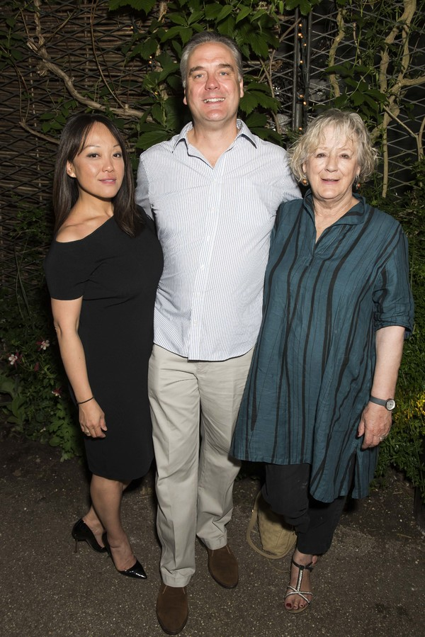 Naoko Mori, Mark Heenehan and Maggie Steed Photo