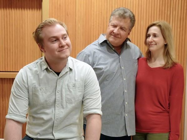 Justin Thomas (as George), Jeff Schlotman (as Doc Gibbs) and Kathy Files DiBiasi (as  Photo