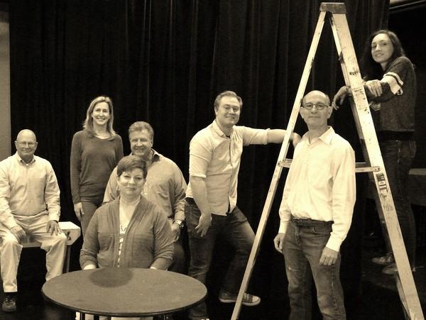 (back row) Ed Woodyard (as Howie Newsome), Kathy Files DiBiasi (as Mrs. Gibbs), Jeff  Photo