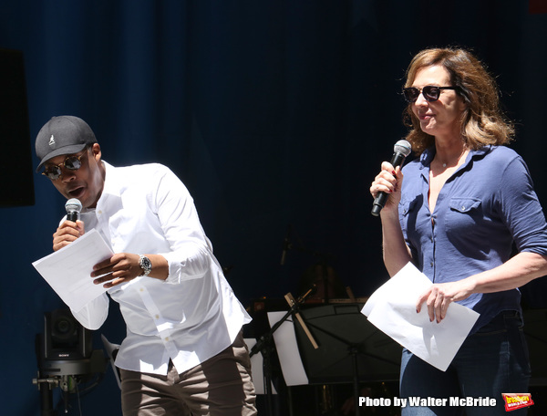 Corey Hawkins and Allison Janney