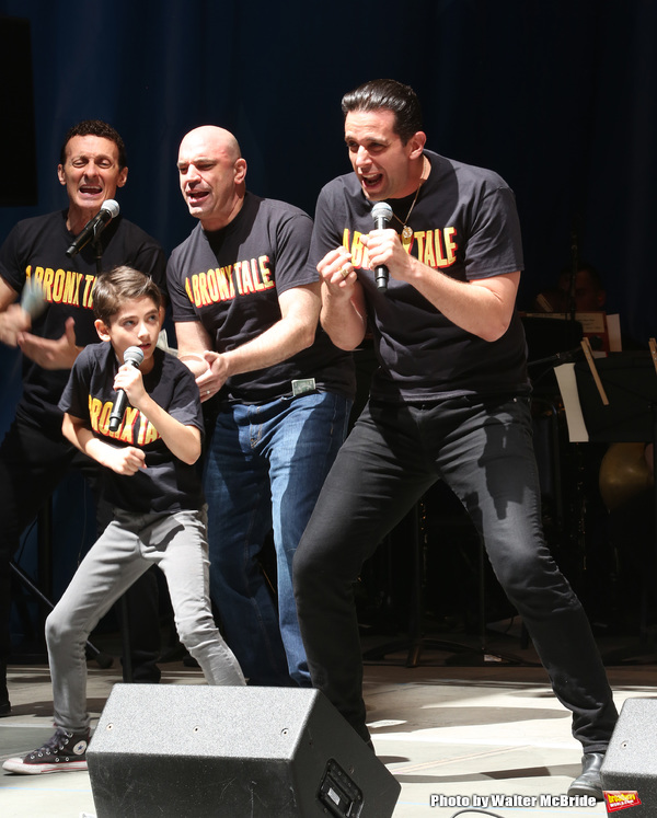 Nick Cordero and the cast of 'A Bronx Tale'