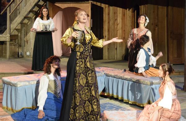 Counter-clockwise from left: Olivia Berumen, Evangeline Edwards, Willow Geer,  Laura Zanoni, Bethany Koulias, Susan Angelo