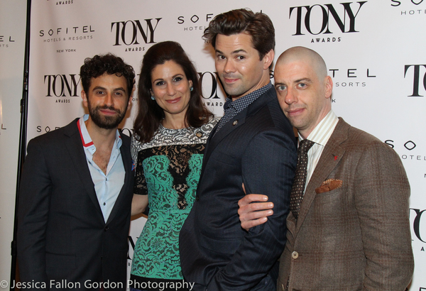 Brandon Uranowitz, Stephanie J. Block, Andrew Rannells and Christian Borle