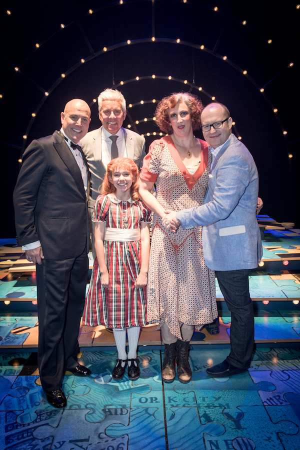 Alex Bourne, David Ian, Ruby Stokes, Miranda Hart and Michael Harrison Photo