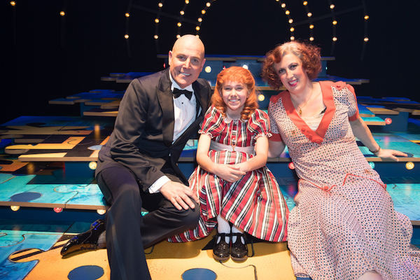 Alex Bourne, Ruby Stokes and Miranda Hart Photo