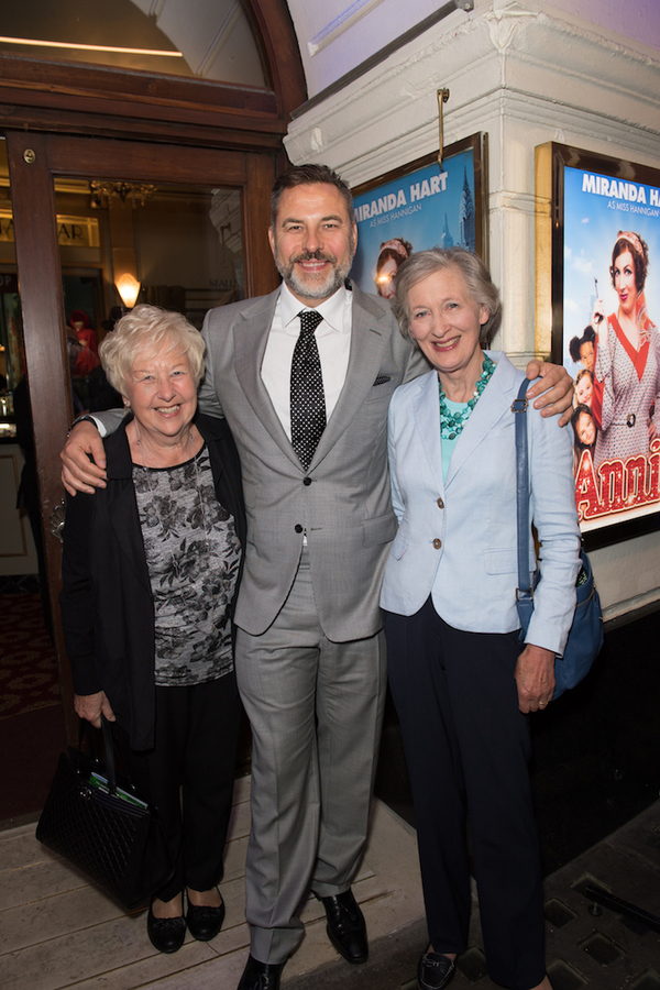 Kathleen Williams, David Walliams and Diana Hart