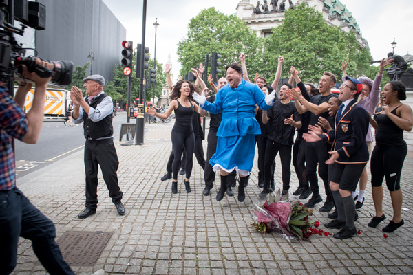 James Corden and cast of Crosswalk the Musical MARY POPPINS Photo
