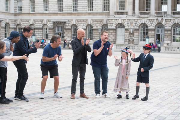 James Corden, Sir Ben Kingsley and cast of Crosswalk the Musical MARY POPPINS and cas Photo