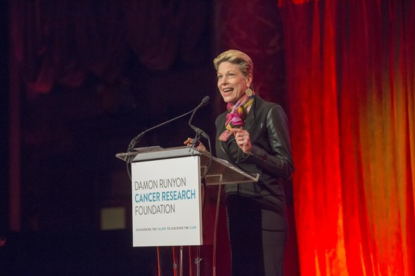 Marin Mazzie, Broadway star and three-time Tony nominated actress, empowers the audience at the 2017 Damon Runyon Cancer Research Foundation Annual Breakfast in New York City on June 6, 2017, celebrating breakthroughs in cancer research.