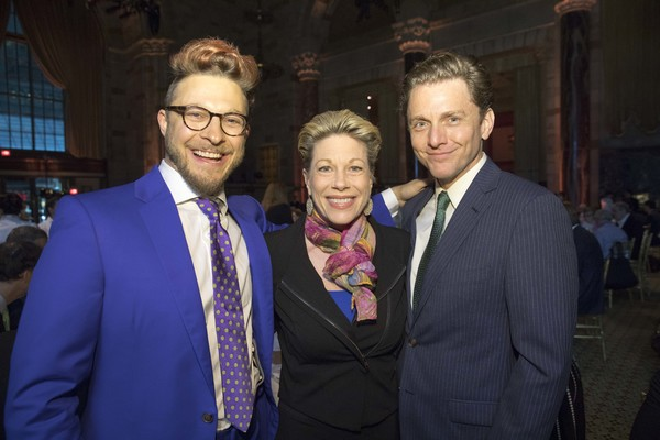 Broadway stars and husband and wife Marin Mazzie and Jason Danieley connect with fellow Broadway performer Benjamin Scheuer