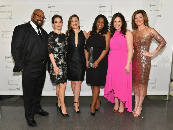 James Monroe Iglehart, Tina Fey, Ashley Brown, Audra McDonald, Lindsay Mendez and Norah O'Donnell