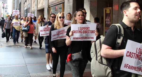 Photo Coverage: Casting Directors Take to the Streets to Rally for Union Contracts