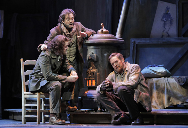Scott Conner as Colline, Arturo Chacon-Cruz as Rodolfo, and Audun Iversen as Marcello Photo