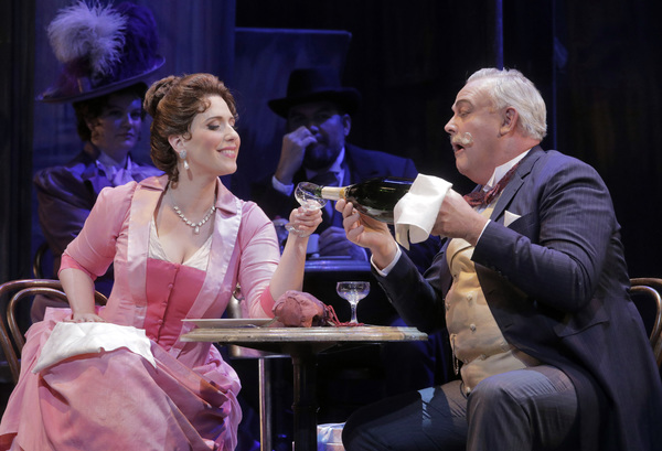 Ellie Dehn as Musetta and Dale Travis as Alcindoro