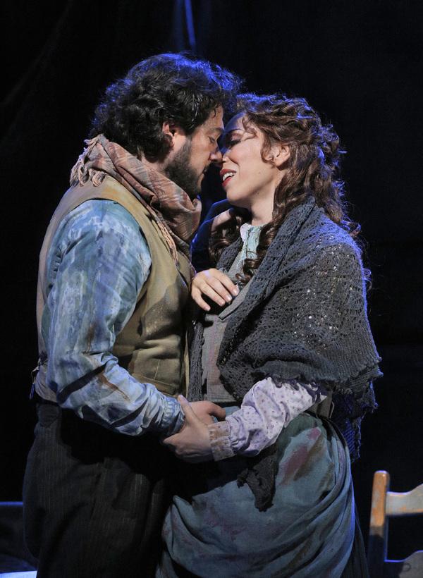 Arturo Chacon-Cruz as Rodolfo and Erika Grimaldi as Mimi Photo