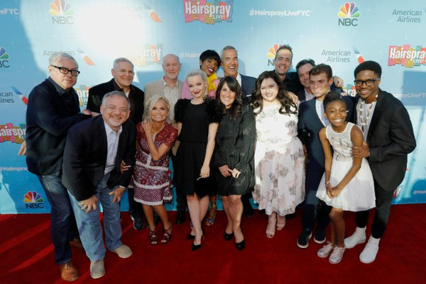 Back Row: Scott Wittman, Co-Lyricist; Craig Zadan, Executive Producer; Neil Meron, Executive Producer; Jennifer Hudson, Jerry Mitchell, Choreographer; Alex Rudzinski, Live Television Director; Derek McLane, Production Designer; Front Row: Marc Shaiman, C