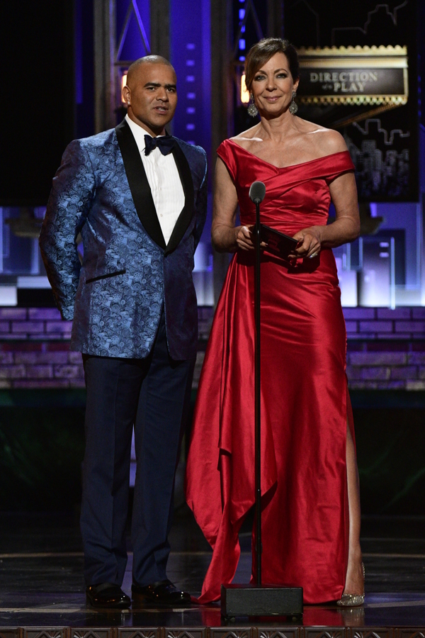 Chris Jackson and Allison Janney