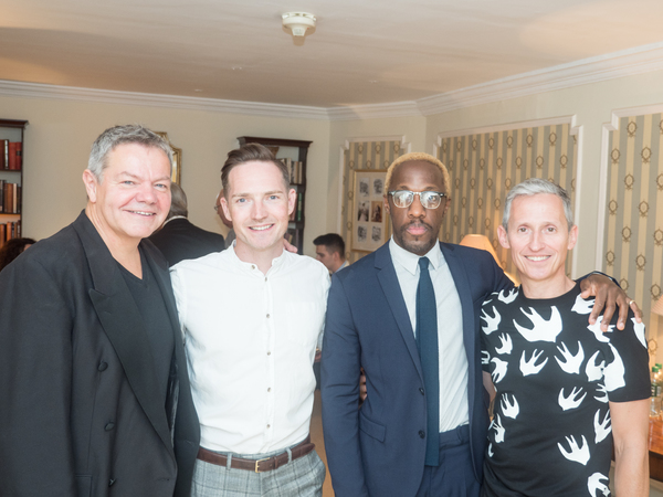 Anthony Drewe, Dan Gillespie Sells, Giles Terera and George Stiles Photo