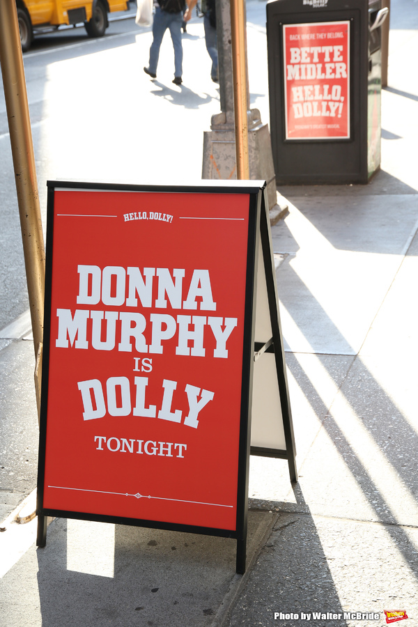 Theatre Marquee for Donna Murphy starring in  'Hello, Dolly' at The Shubert Theatre on June 13, 2017 in New York City.