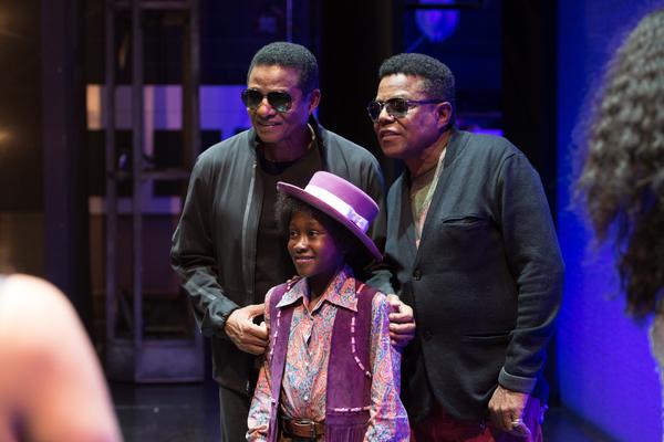 Jackie Jackson, Raphael Higgins-Humes, and Tito Jackson