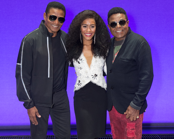 Jackie Jackson, Lucy St Louis, and Tito Jackson