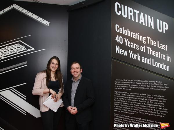 Leah Lane and curator Doug Reside  Photo