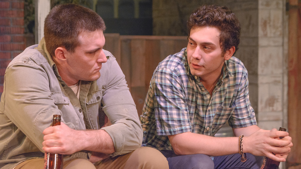 Chris Rothbauer (Eddie) and Jacob Oderberg (Rudy) in Tom Dudzick's, King O' The Moon. Photo