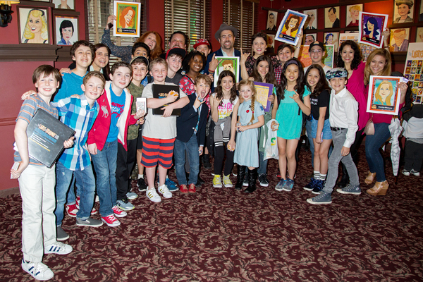 """Justin """"Squigs"""" Robertson and Broadway stars celebrate the Spring 2017 Lights of Broadway release"""