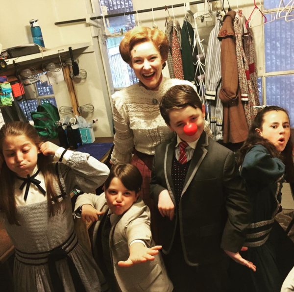 Mary Poppins (Paper Mill Playhouse): @missjillysue #sip with Madi Shaer, Maddox Padge Photo