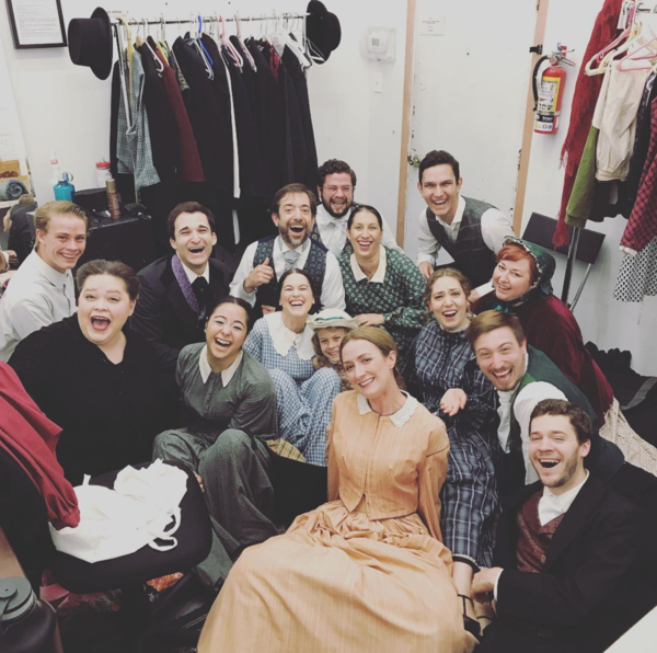 Crazy Mary Lincoln (Regional): @madeleinekoon 15 people in a 15x10 box. #sip #newmusical #pallastheatrecollective #dctheatre @officialbroadwayworld #crazymarylincoln #smallestdressingroomever