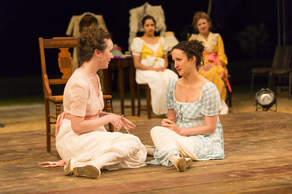Amelia Pedlow and Kate Hamill in Pride and Prejudice