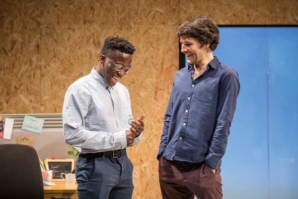 Bayo Gbadamosi and Colin Morgan
