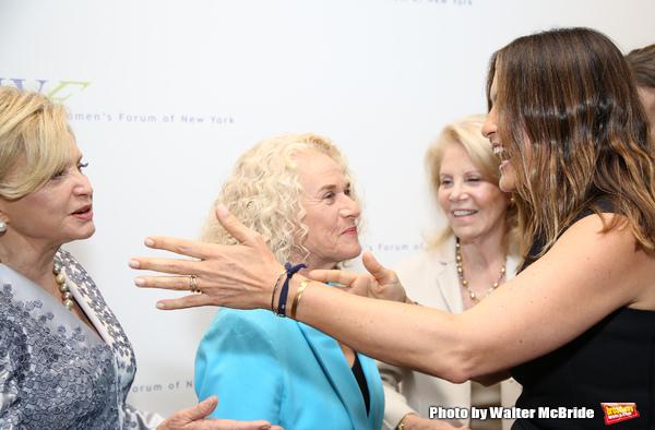Carolyn B. Maloney, Carole King and Mariska Hargitay