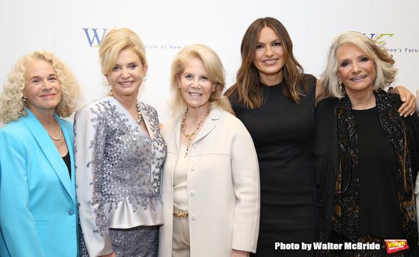 Carole King, Carolyn B. Maloney, Daryl Roth, Mariska Hargitay and Shelia Nevins