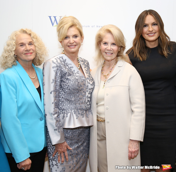 Carole King, Carolyn B. Maloney, Daryl Roth and Mariska Hargitay