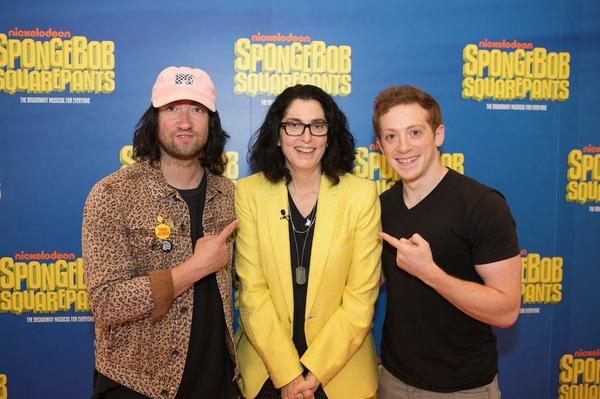Tom HIggenson, Tina Landau, Ethan Slater Photo
