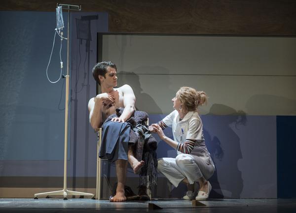 Andrew Garfield and Amanda Lawrence