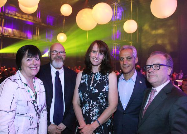 Mary Ann Cronin, Andy Hayles, Gillian Darlow, Mayor Rahm Emanuel, and Chris Jones Photo