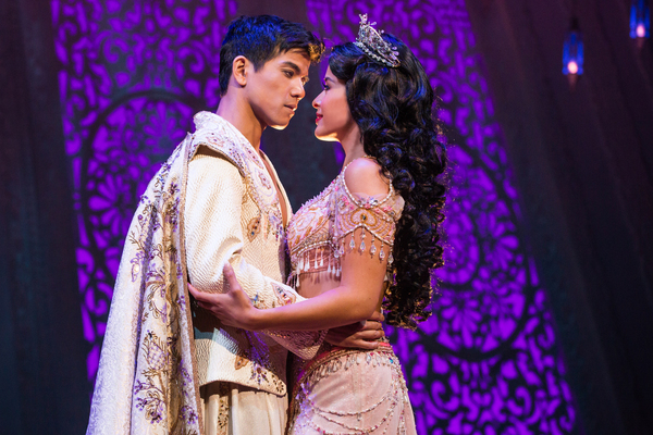 Telly Leung as Aladdin and Courtney Reed as Jamine. Photo Credit: Matthew Murphy