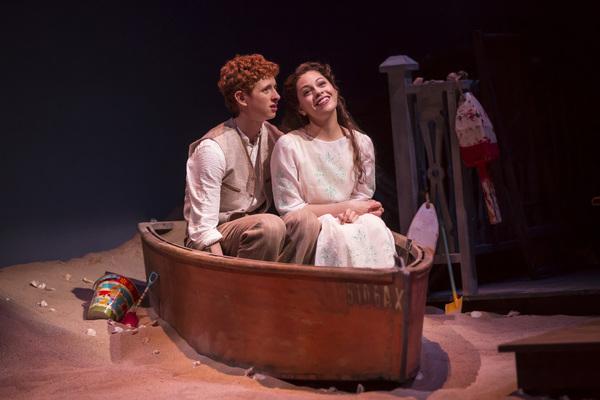 Niall Cunningham (Richard Miller) and Ayssette Muñoz (Muriel McComber) in Eugene O'Neill's Ah, Wilderness!, directed by Steve Scott  at Goodman Theatre