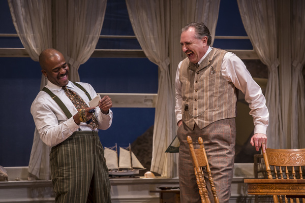 Larry Bates (Sid Davis) and Randall Newsome (Nat Miller) in Eugene O'Neill's Ah, Wilderness!