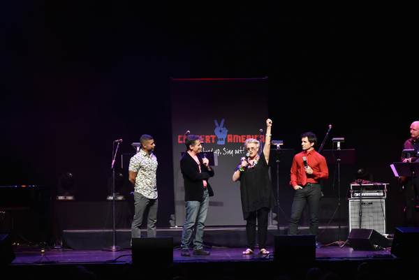 Seth Rudetsky, Sharon Gless and Hal Sparks