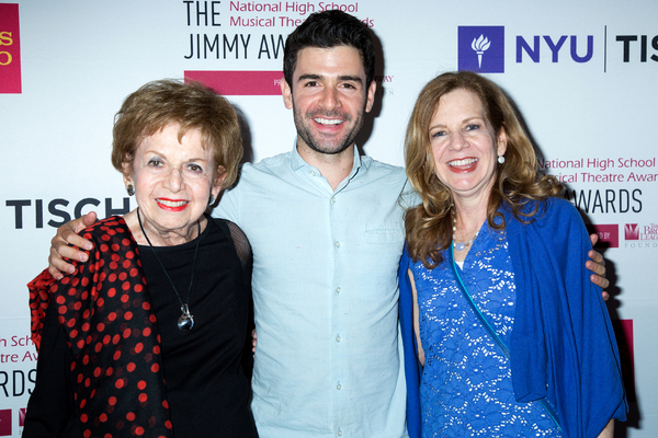 Adam Kantor with his mother and grandmother