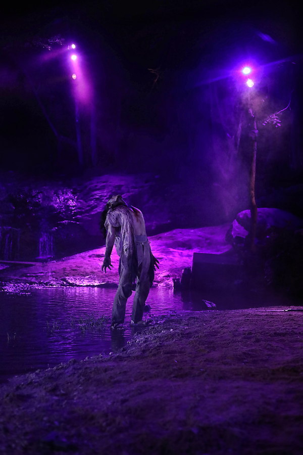 Photo Flash: First Look at Justin Deeley in Waterfall-Set MACBETH at Serenbe Playhouse