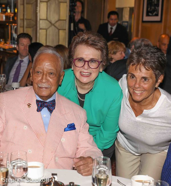 David Dinkins, Billie Jean King,  Monica Seles